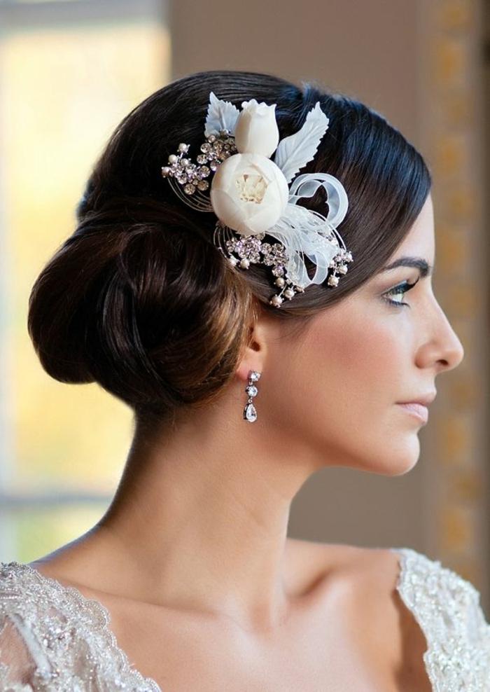 Fleurs et cristaux,Coiffure mariage femme - idées en photos pour vous inspirer