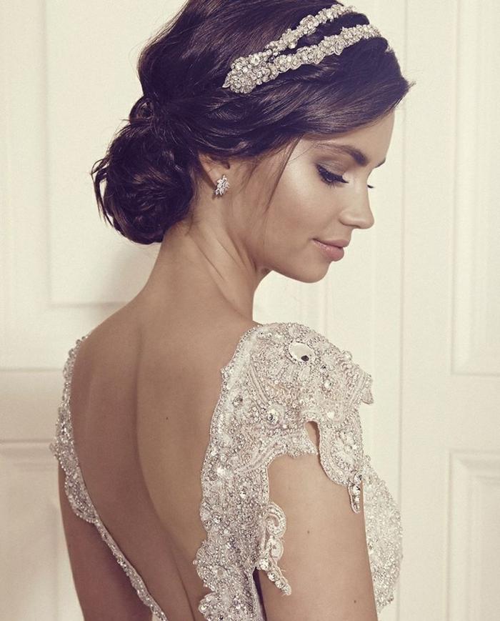 diadème,Coiffure mariage femme - idées en photos pour vous inspirer