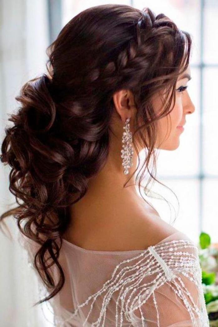 idées intéressantes, glamours et uniques de coiffure mariage