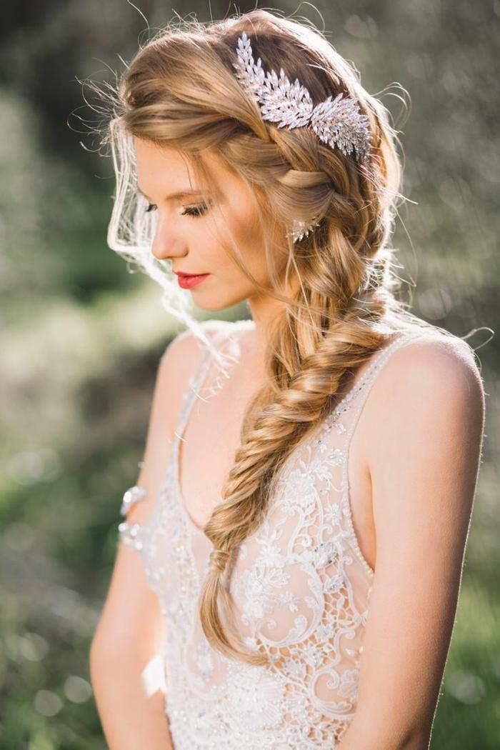 une coiffure mariage jolie