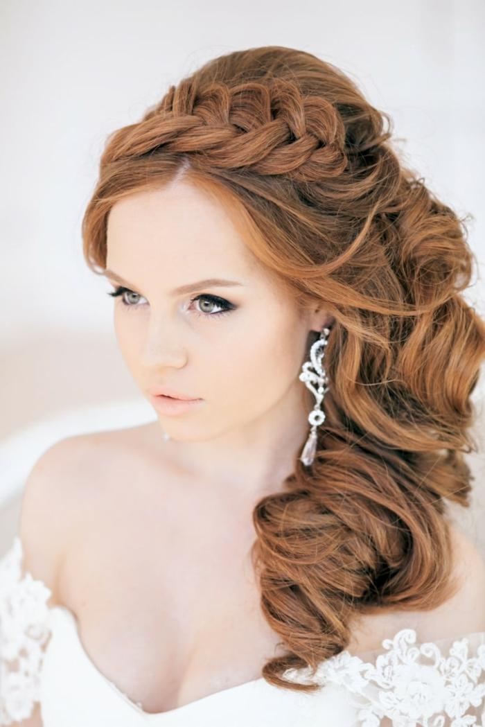 coiffure mariage romantique