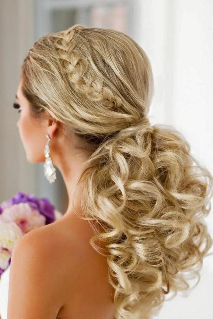 coiffure mariage pour les cheveux longs