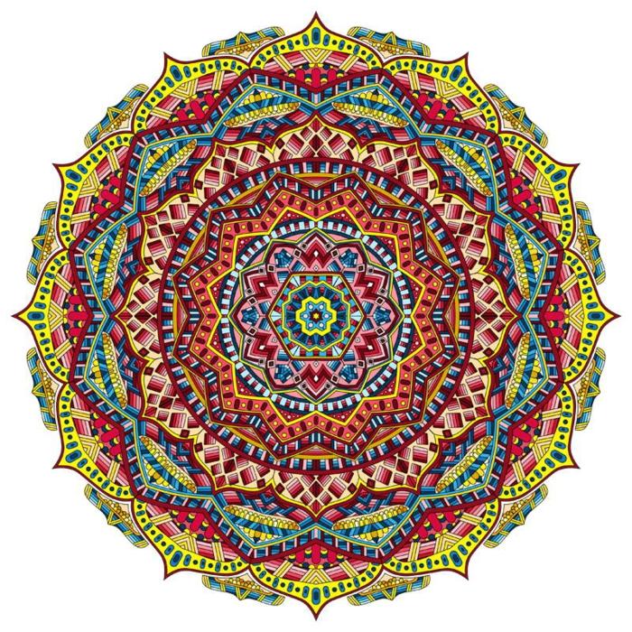 coloré mandala pour tatouage mandala