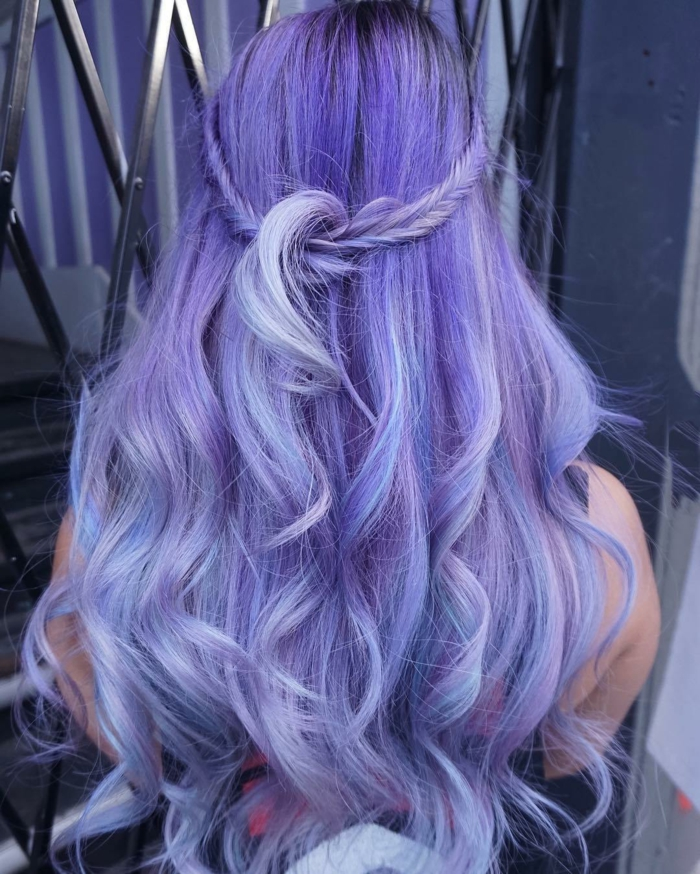 coloration cheveux pastel purple hairstyle