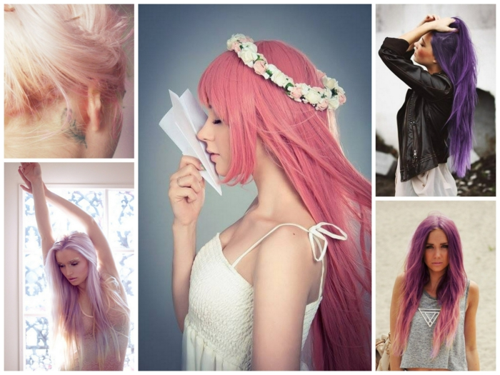 coloration cheveux en tons pastels