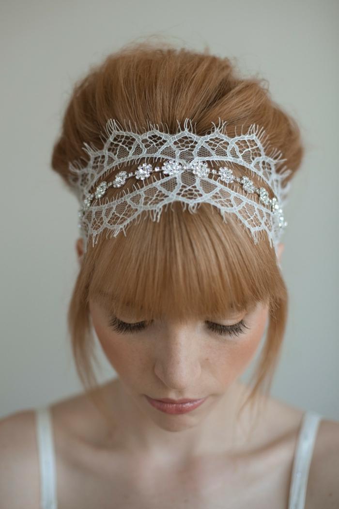 dentelle,coiffure mariage femme - idées en photos pour vous inspirer