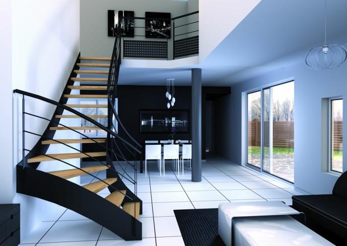 par exemple c'est un escalier en bois et métal avec limons latéraux