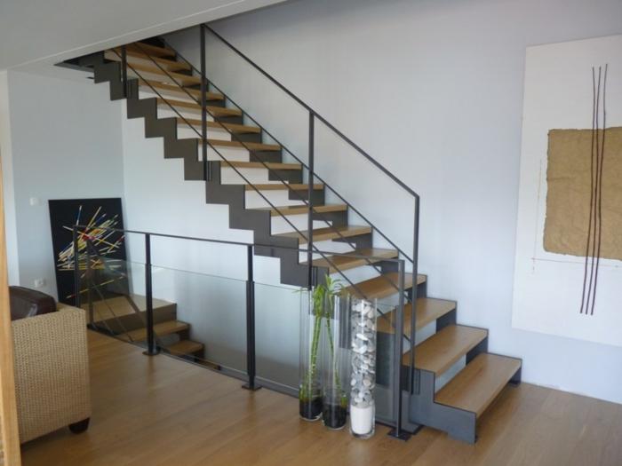par exemple c'est un escalier à double limons à crémaillère