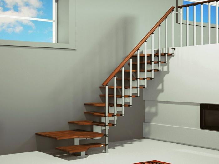 escalier japonais en bois