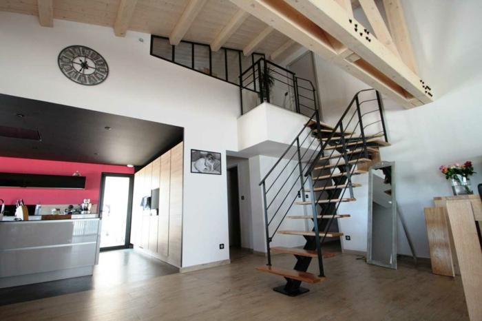 par exemple c'est un escalier à limon central métallique