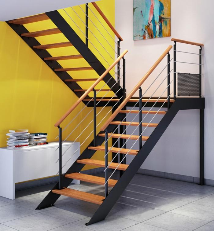 escalier métal limons lateraux