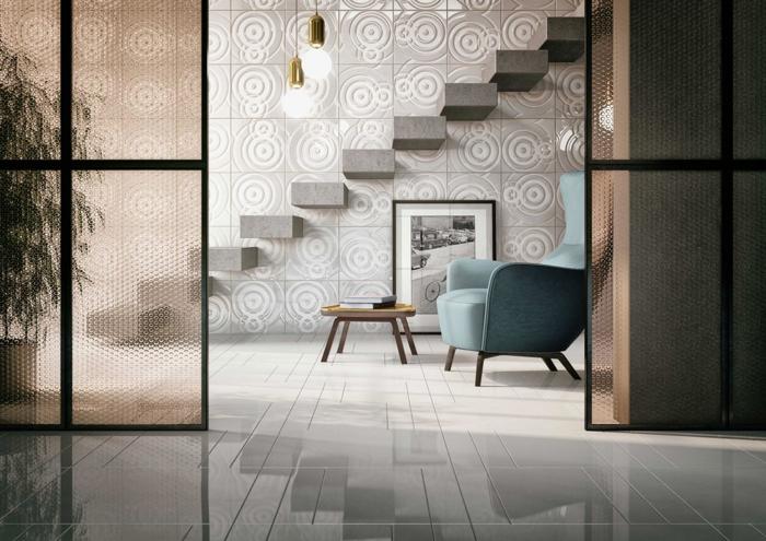 par exemple c'est un escalier mural en béton