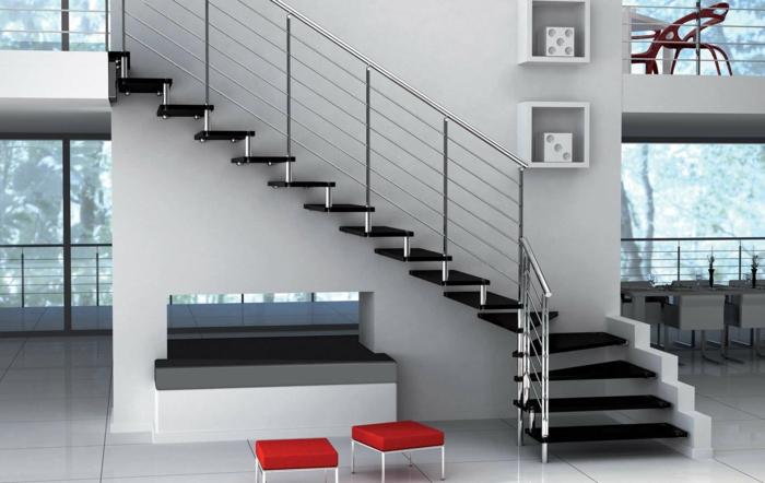 par exemple c'est un escalier suspendu