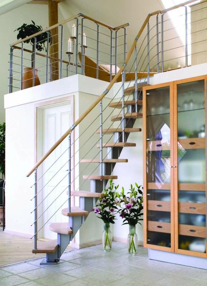 escalier en bois à pas japonais