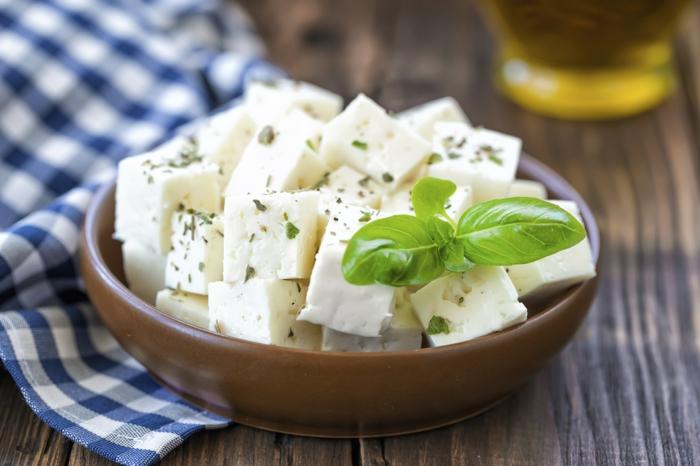 feta fromage pour dessert d'été