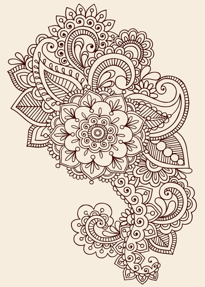 fleurs tatouage mandala