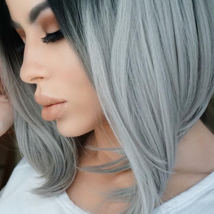idée coloration grise pour les cheveux 2017