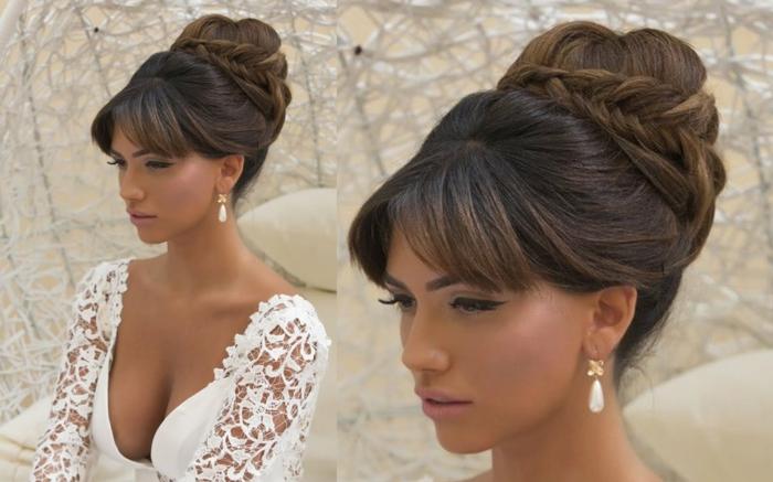 une magnifique idée pour une coiffure mariage