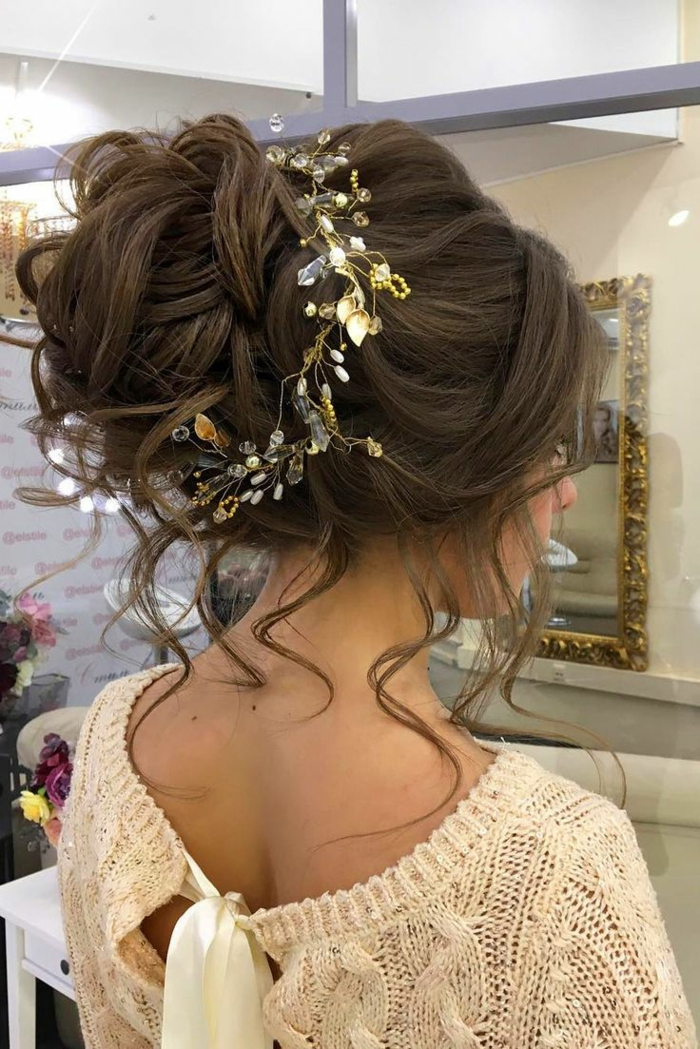 Mariage romantique,coiffure mariage femme - idées en photos pour vous inspirer