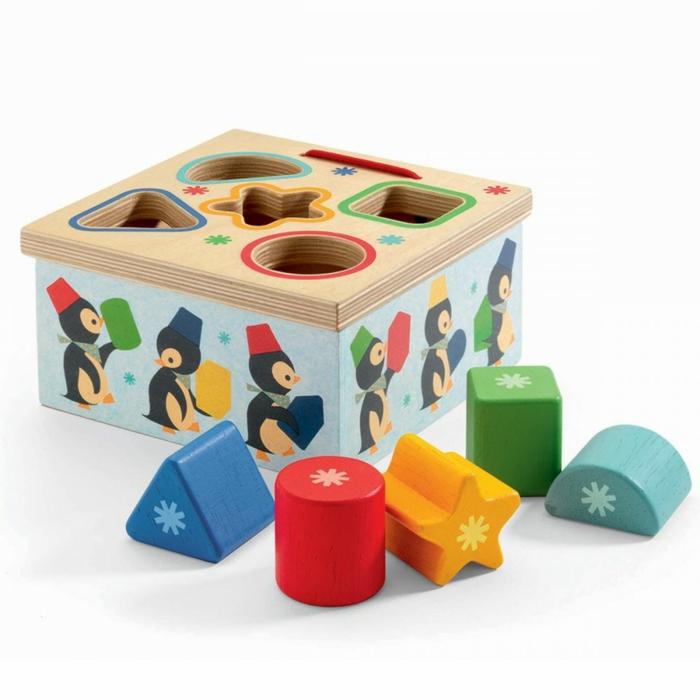 jouet d'éveil, jouet en bois pour apprendre les couleurs et les formes