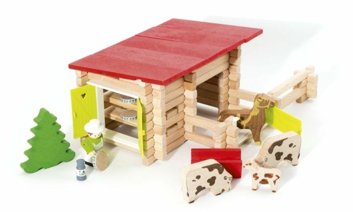 jeux de construction, un jouet en bois, maison à construire