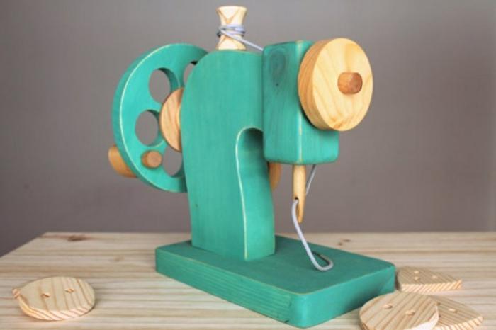 machine à coudre jouet en bois d'imitation