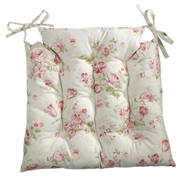 galette de chaise fleurie