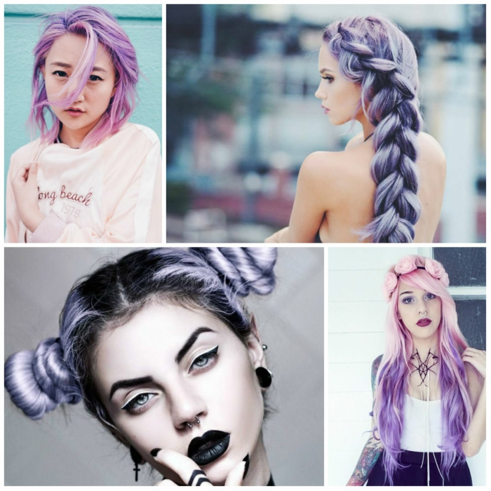 pastel hair coloration cheveux