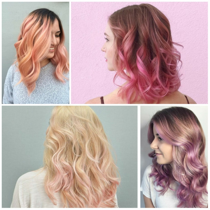 pink ombré coloration cheveux