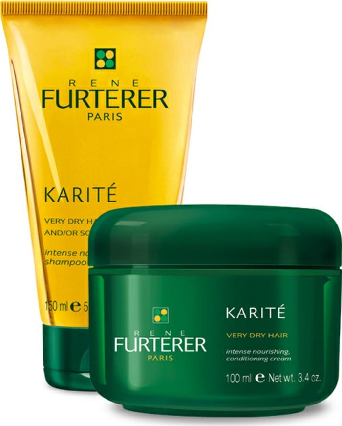 Produits pour les cheveux de la base du beurre de karité