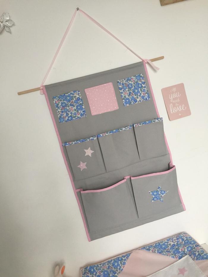 rangement mural tissu pour organiser bien la pi ce. Black Bedroom Furniture Sets. Home Design Ideas