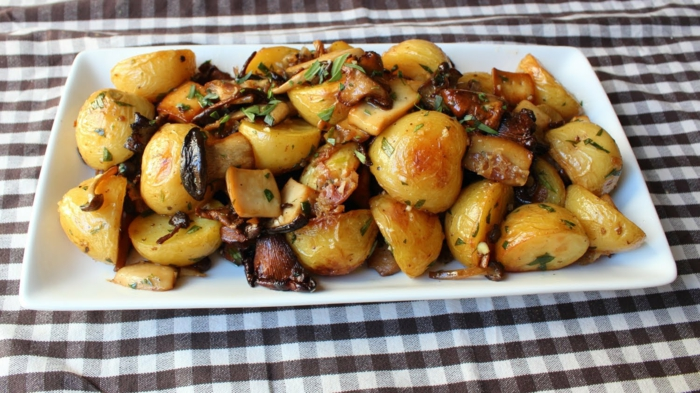 recette pommes de terre au four aux champignons