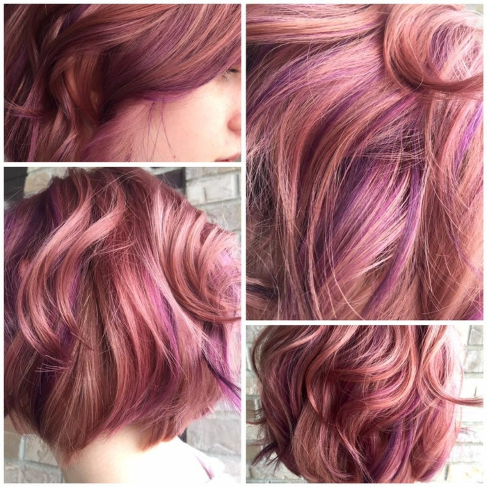 rose gold coloration cheveux