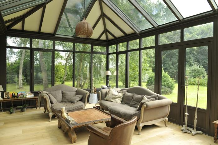 par exemple c'est un toit de véranda en verre