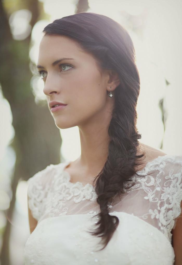 tresse élégante pour une coiffure mariage