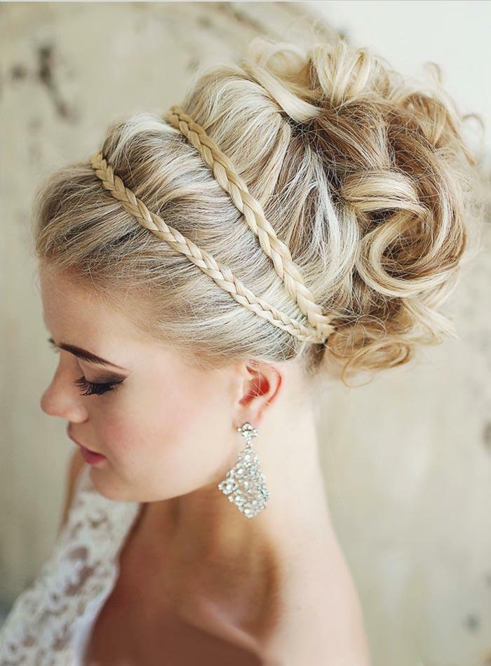 coiffure mariage avec tresse et chignon