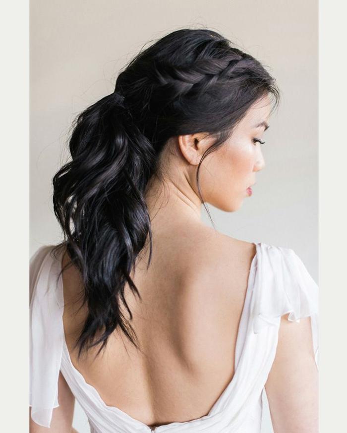 coiffure mariage tresse pour les cheveux longs