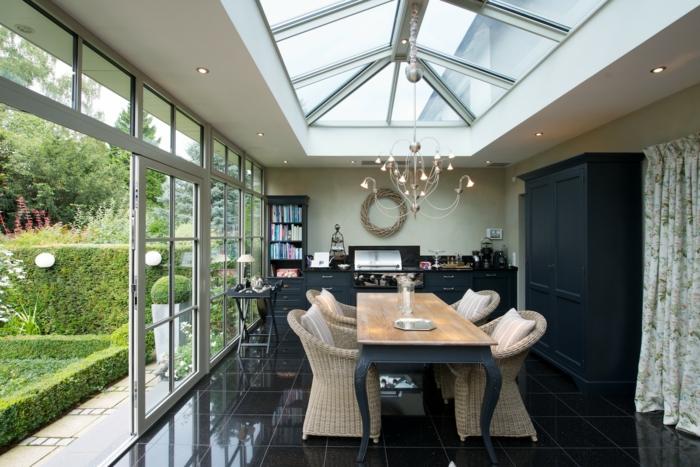par exemple c'est une véranda avec toit en verre
