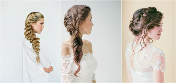 idées différentes de coiffure mariage