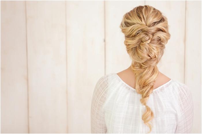 tresse jolie pour une coiffure mariage