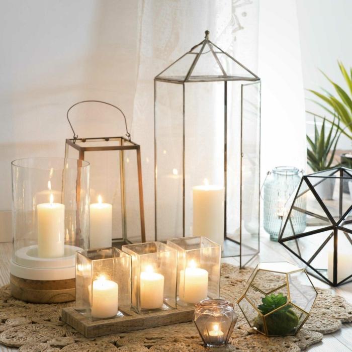 ambiance romantique avec bougies pour votre salon
