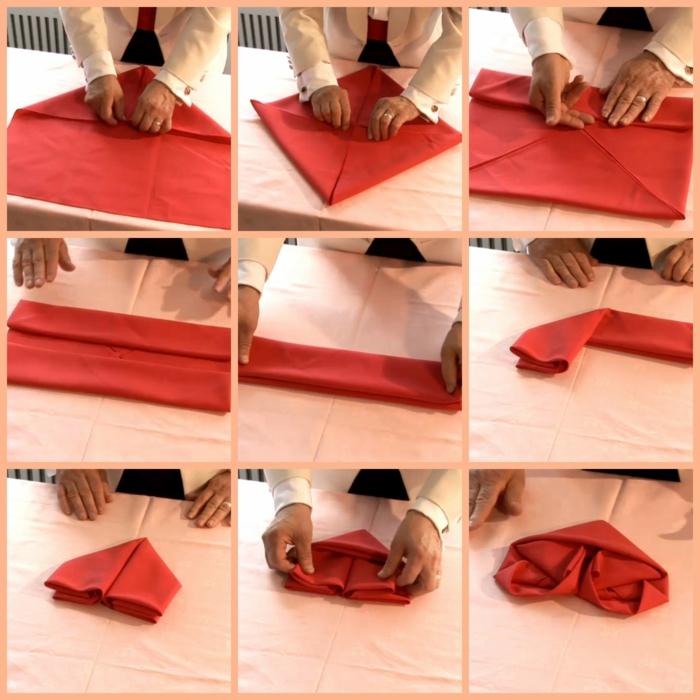 art pliage serviette