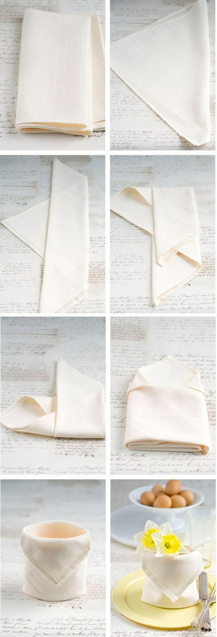 astuces pliage serviette