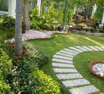 Id e all e de jardin en 50 exemples originaux et tendance - Decoration allee de jardin ...