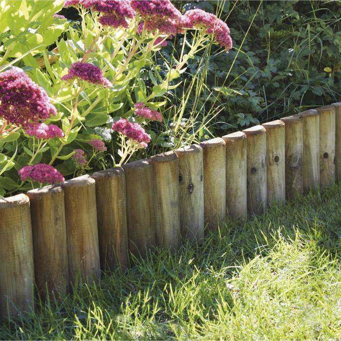 bordure à planter bois