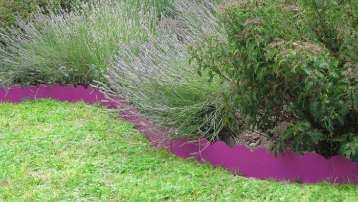 bordure de jardin en acier
