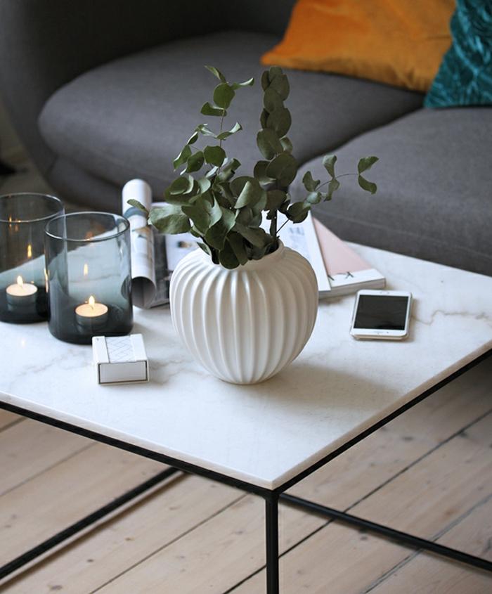bougies pour le centre de la table pour une ambiance chaleureuse