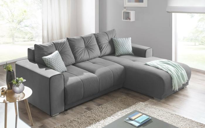 canapé d'angle convertible et très confortable