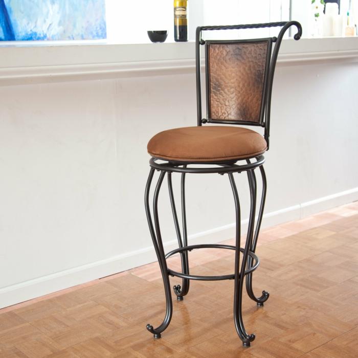 chaise métal et tissu
