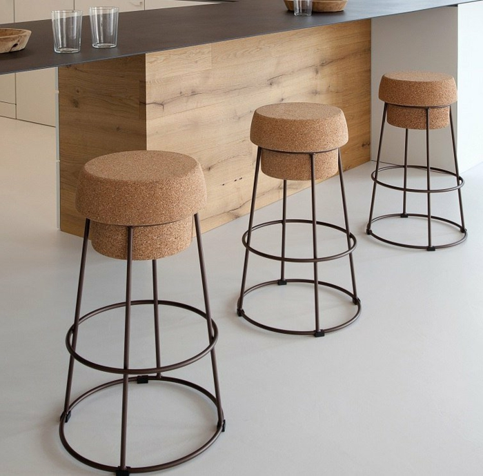 chaises bar design original cuisine moderne